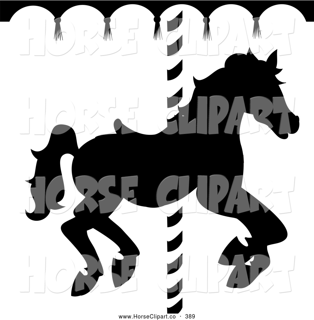Carousel horse silhouette clip art - photo#21