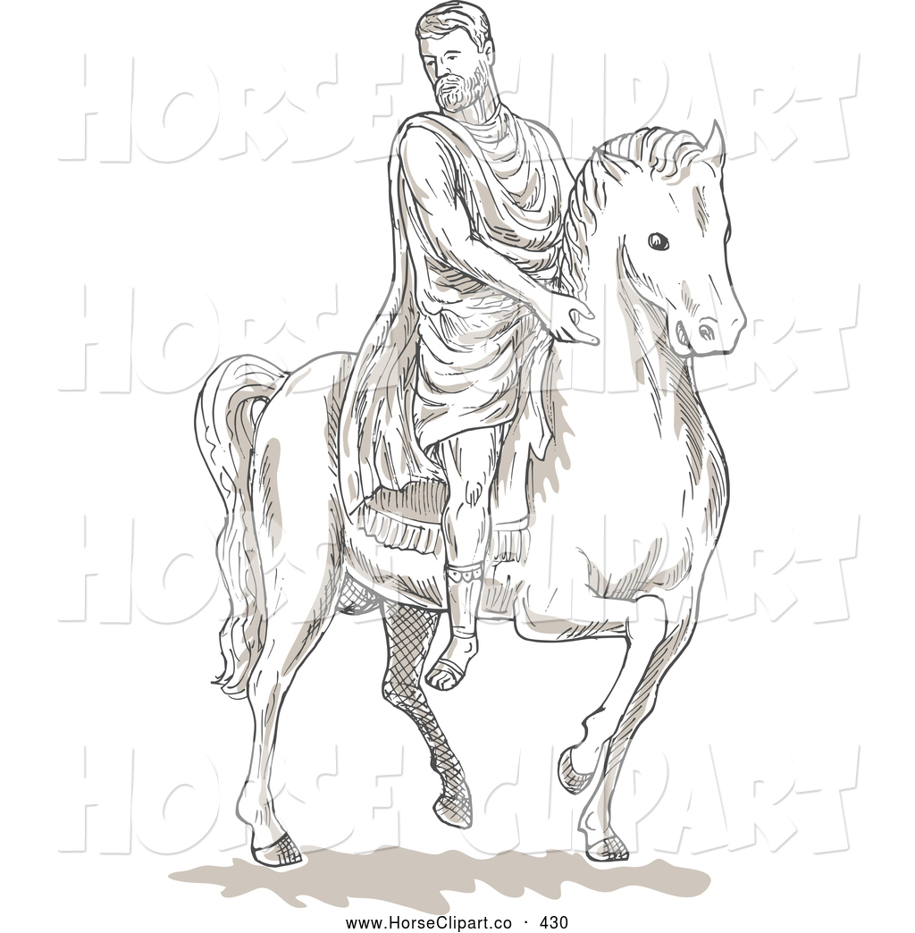 man riding horse coloring pages - photo#30