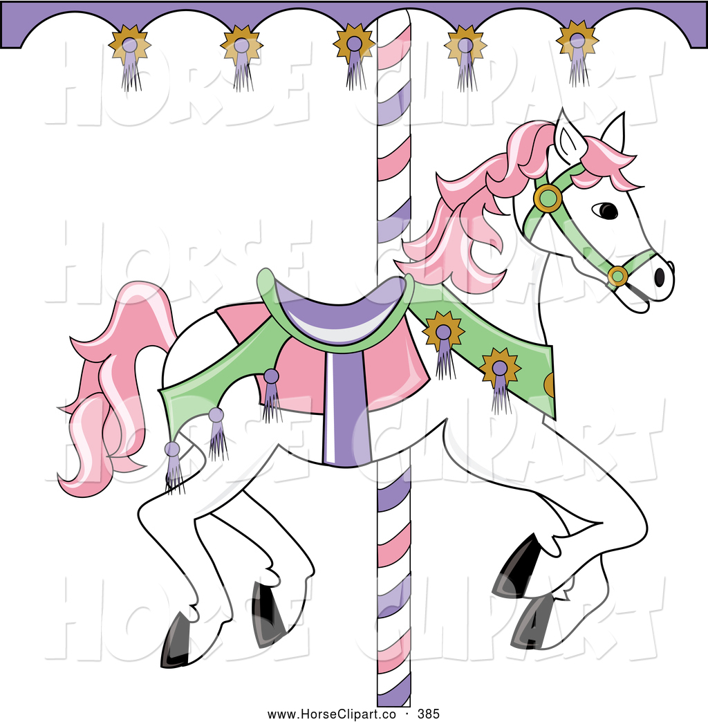 Free merry go round coloring pages