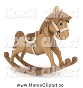Clip Art of a 3d Rocking Horse by BNP Design Studio
