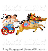 Clip Art of a 3d Roman Pair Racing a Chariot by Amy Vangsgard