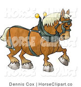 Clip Art of a Belgian Heavy Draft Horse Facing Right by Djart