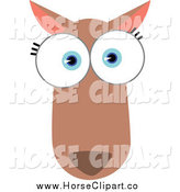 Clip Art of a Big Eyed Kangaroo by Qiun