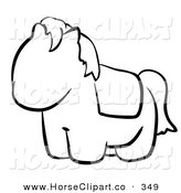 June 6th, 2013: Clip Art of a Black and White Human Factor Cute Pony Outline by Leo Blanchette