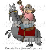 Clip Art of a Bucking Bronco and Cowboy by Djart