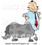 Clip Art of a Caucasian Centaur Businessman in a Blue Shirt and Red TieCaucasian Centaur Businessman in a Blue Shirt and Red Tie by Djart
