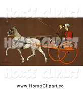 Clip Art of a Couple Riding in a Coach by JVPD