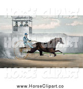 Clip Art of a Dan Mace Racing and Driving the Trotting Horse Judge Fullerton by JVPD