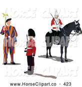 Clip Art of a Digital Set of Swiss and London Guards by Leonid