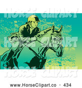 Clip Art of a Female Equestrian Riding on a Horse by Mayawizard101
