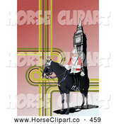 Clip Art of a Formal London Guard near Big Ben by