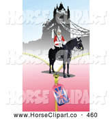 Clip Art of a Formal London Guard near the Tower Bridge by
