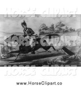 Clip Art of a Horse and the Escape of Sergeant Champe by JVPD