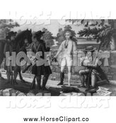 Clip Art of a Horse at the Capture of John Andre by JVPD