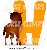 Clip Art of a Horse by an H by BNP Design Studio