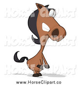 Clip Art of a Horse Facing Right by Julos