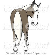 Clip Art of a Horse Looking Back by Djart