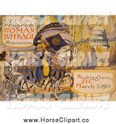 Clip Art of a Horse on an Official Program - Woman Suffrage Procession, Washington, D.C. March 3, 1913 by JVPD