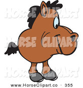 June 13th, 2013: Clip Art of a Little Brown Horse Facing Right by Dennis Holmes Designs