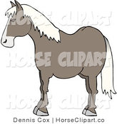 Clip Art of a Profile of a Brown Horse's Side by Djart