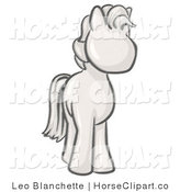 Clip Art of a Sketched Standing Pony Looking Slightly to the Right by Leo Blanchette