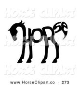 Clip Art of a the Word Horse Spelled out and Forming the Shape of a Horse's Body on White by C Charley-Franzwa