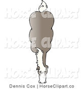 Clip Art of a Top of a Brown Horse by Djart