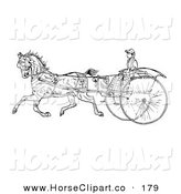 Clip Art of a Young Lady Holding the Reins to a Horse and Cart by C Charley-Franzwa
