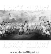 Clip Art of Horses and Surrender of Lord Cornwallis at Yorktown, Va by JVPD