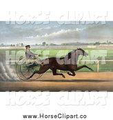 Clip Art of J. Bowen Trotting a Horse at Mystic Park in Medford, Massachusetts, June 28th 1872 by JVPD