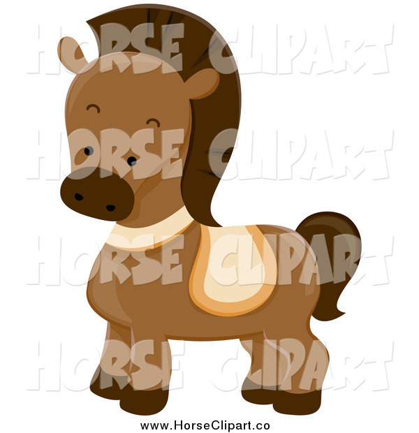 Clip Art of a Cute Brown Pony