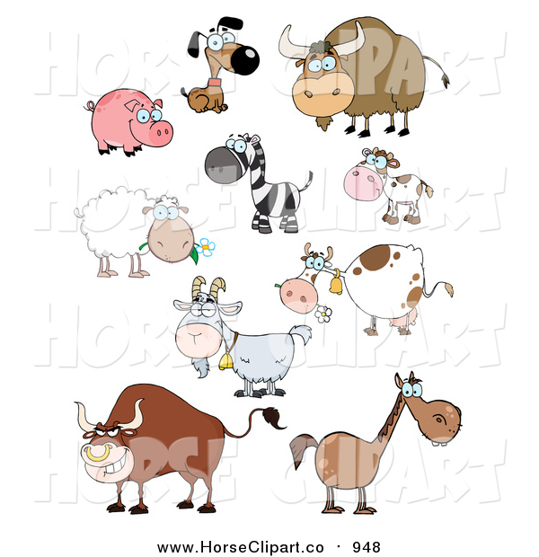 Clip Art of Barnyard and Zoo Animals