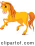 Clip Art of a Cute Orange Horse Running to the Left by Pushkin