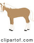 Clip Art of a Cute Standing Tan and White Horse by Rosie Piter