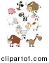 Clip Art of Barnyard and Zoo Animals by Hit Toon