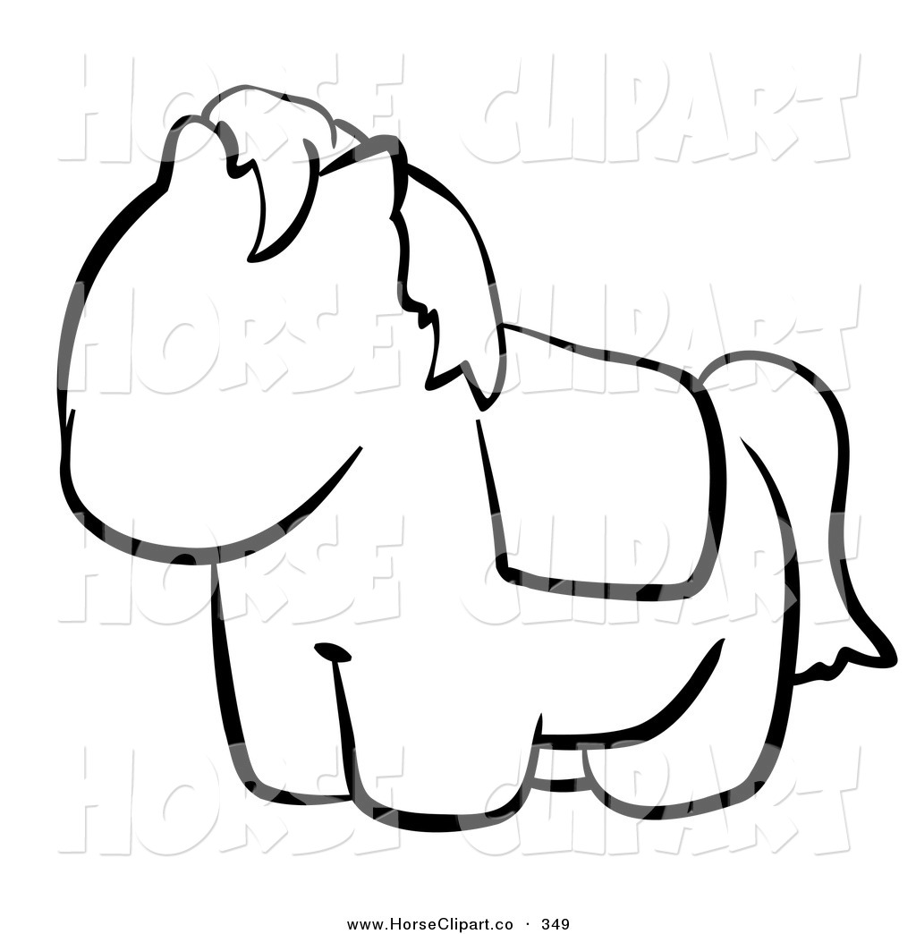Clip Art Of A Black And White Human Factor Cute Pony Outline By Leo Blanchette 349