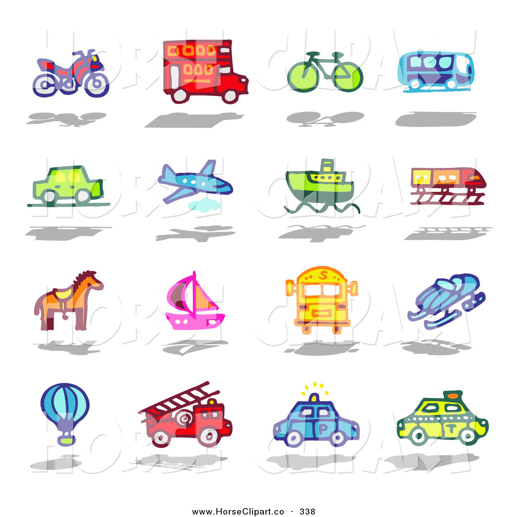 clip art of a colorful digital collage of various modes of transportation by nl shop 338 train engine clipart train engine clip art images