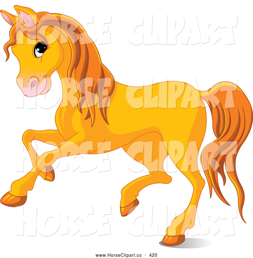 clip art of a cute orange horse running to the left by pushkin 420 rh horseclipart co cute baby horse clipart cute sea horse clipart